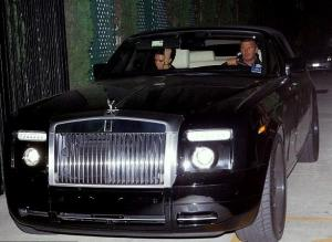 David Beckham Rolls Royce Phantom Drophead