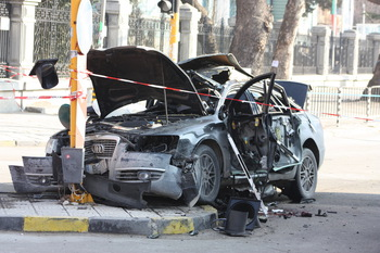 AUDI Yordan Harasimov dupa explozie, Varna, Bulgaria