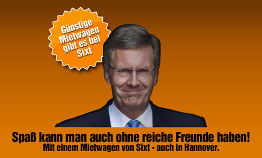 Christian Wulff RENT A CAR SIXT