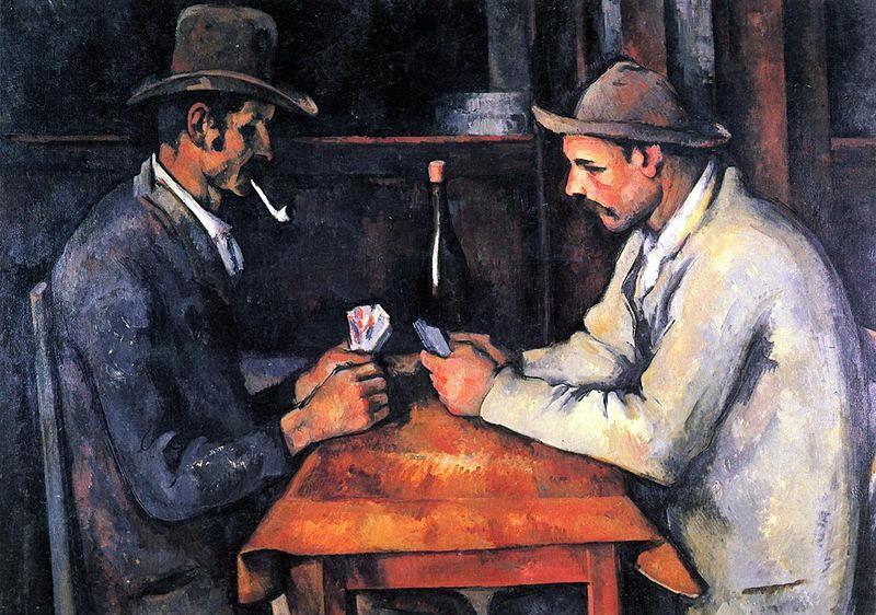 Paul Cézanne , Jucatorii de carti - 1892-1893,