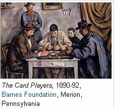 The card players Barnes Foundation