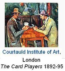 The card players Courtauld Institute of Art