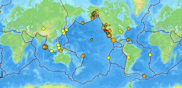 Harta cutremure 12 apr 2012