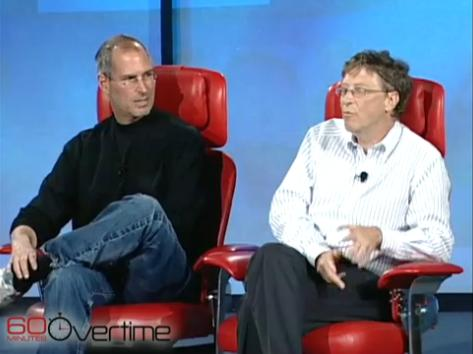 Bill Gates si Steve Jobs 2007