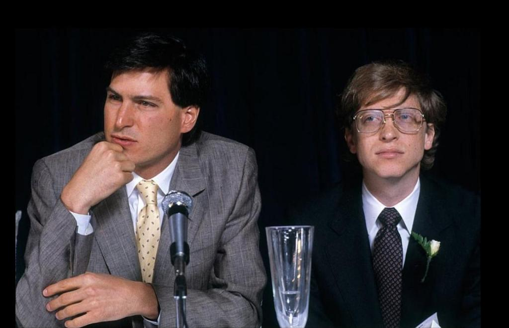Steve Jobs + Bill Gates in 1984