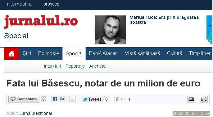 Jurnalul National - Fata lui Basescu ...