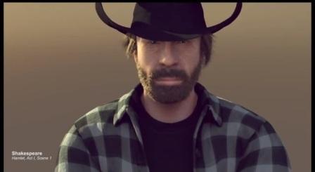 Chuck Norris fake split